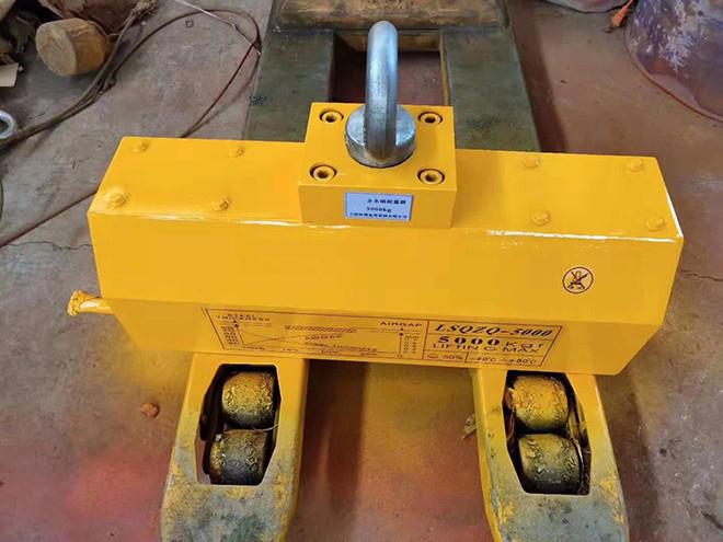 永磁起重器薄型钢板起吊应用